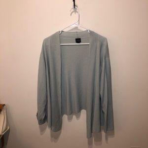 Mint Green Eileen Fisher Merino Wool Cardigan